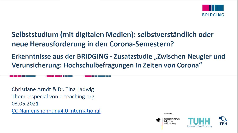 Folien: Christiane Arndt und  Dr. Tina Ladwig