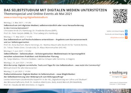 """Virtuelle Postkarte zum Themenspecial """"Das Selbststudium mit digitalen Medien unterstützen"""""""