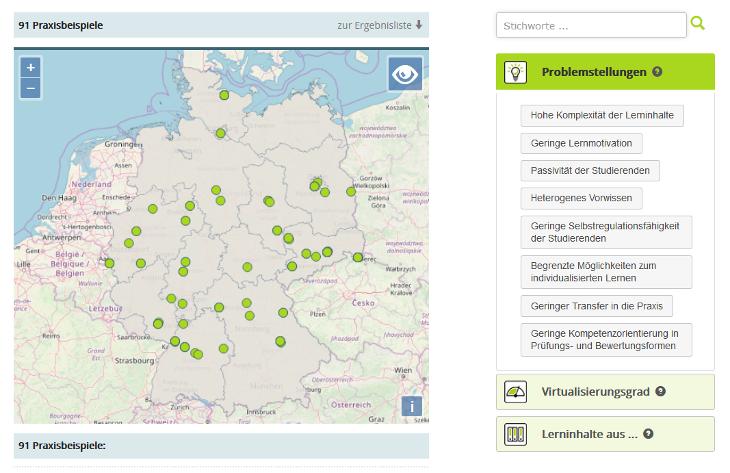 Screenshot Digital Learning Map