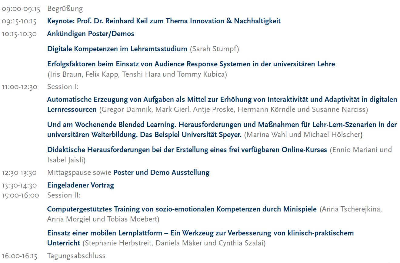 Programm E-Learning Symposium